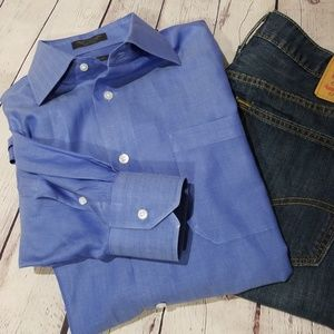 John W. Nordstrom Blue Button Down Shirt